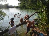 megfürdünk a meleg vízben